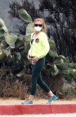 ISLA FISHER Out Hiking with Her Dog in Hollywood Hills 10/19/2020