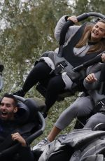 JACQUELINE JOSSA and Dan Osborne at Thorpe Park Resort in Surrey 10/26/2020
