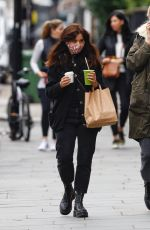 JENNA LOUISE COLEMAN Wearing a Mask Out in Notting Hill 10/13/2020