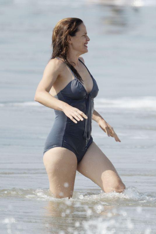 JENNIFER GARNER in Swimsuit at a Beach in Malibu 10/03/2020