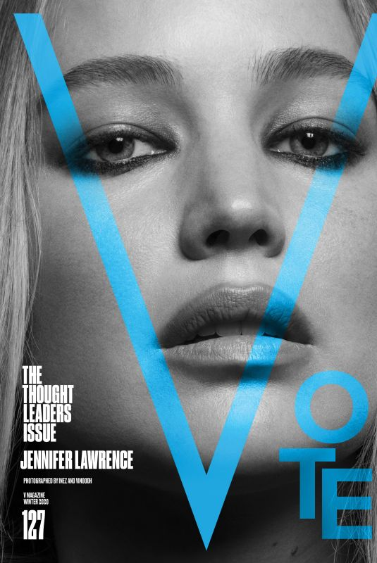JENNIFER LAWRENCE for V Magazine, The Thought Leaders Issue, 2020