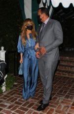 JENNIFER LOPEZ and Alex Rodriguez Out for Dinner at San Vicente Bungalows 10/13/2020