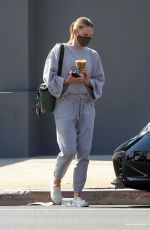 JENNIFER MORRISON Out for Iced Coffee in West Hollywood 10/07/2020