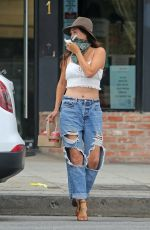 JESSICA CIENCIN HENRIQUEZ in Ripped Denim Out in Los Angeles 10/23/2020