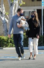 JORDANA BREWSTER and Andrew Form Leaves a Pharmacy in Brentwood 10/29/2020