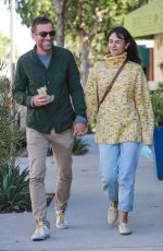 JORDANA BREWSTER and Mason Morfit Out Kissing in Brentwood 10/27/2020