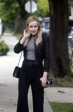 JULIA GARNER on the Set of Inventing Anna in New York 10/02/2020