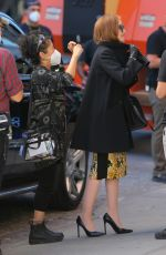 JULIA GARNER on the Set of Inventing Anna in New York 10/15/2020