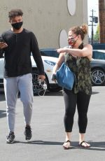 JUSTINA MACHADO and Brandon Armstrong Heading to DWTS Studio in Los Angeles 10/16/2020