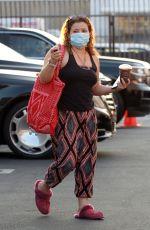 JUSTINA MACHADO Arrives at DWTS Studio in Los Angeles 10/17/2020