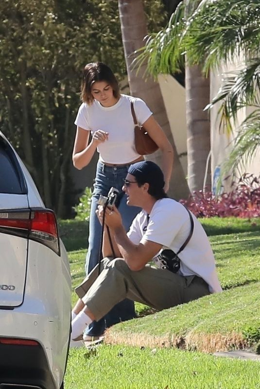 KAIA GERBER and Jacob Elordi Out in Hollywood 10/29/2020
