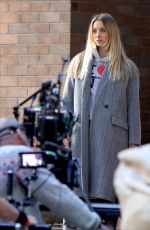 KALEY CUOCO on the Set of The Flight Attendant in New York 10/06/2020