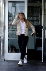 KALEY CUOCO on the Set of The Flight Attendant in New York City 10/10/2020
