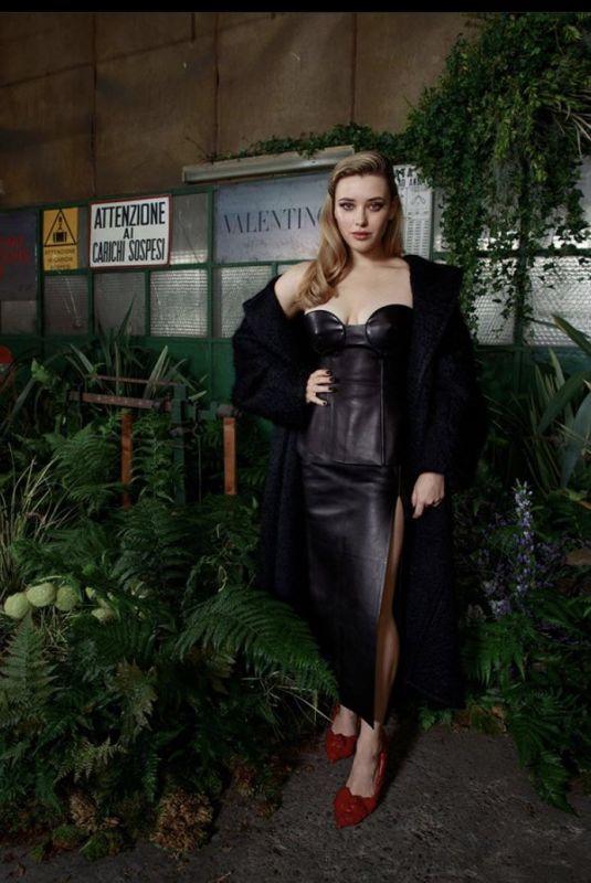 KATHERINE LANGFORD at Valentino Fashion Show at MFW in Milan 09/27/2020