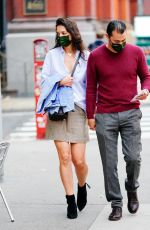 KATIE HOLMES and Emilio Vitolo Jr Out in New York 10/22/2020