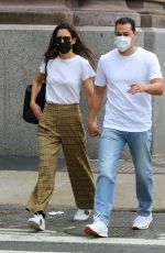 KATIE HOLMES and Emilio Vitolo Jr. Out in New York 10/01/2020