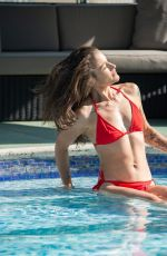 KATIE WAISSEL in a Red Bikini at a Pool in Italy 10/17/2020