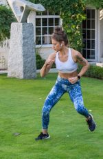 KATIE WAISSEL Workout at a Park in London 10/24/2020