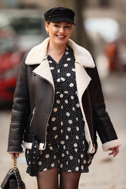 KELLY BROOK Arrives at Heart Radio in London 10/07/2020