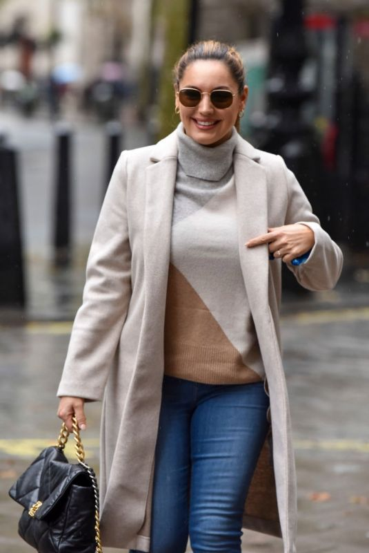 KELLY BROOK Arrives at Heart Radio in London 10/13/2020