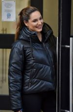 KELLY BROOK Arrives at Heart Radio in London 10/20/2020