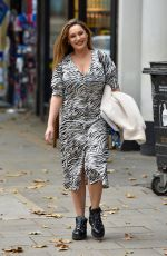 KELLY BROOK Arrives at Heart Radio in London 10/23/2020
