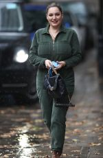 KELLY BROOK in a Green Jumpsuit Out in London 10/09/2020