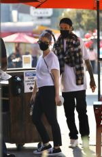 KELLY OSBOURNE and Griffin Johnson Out for Lunch in West Hollywood 10/16/2020