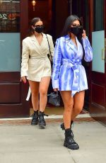 KOURTNEY KARDASHIAN and ADDISON RAE Out in New York 10/10/2020