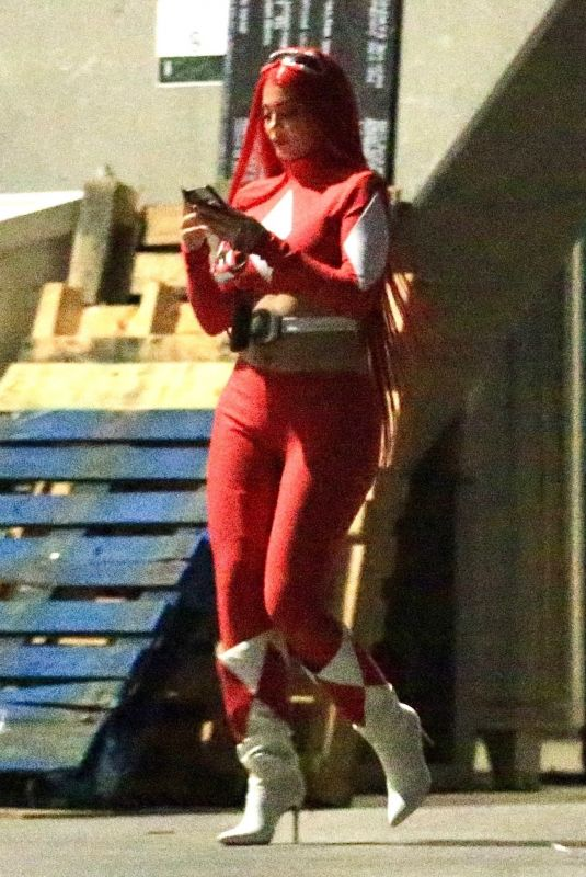 KYLIE JENNER Sneaking Out of Halloween Party in West Hollywood 10/30/2020