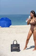 LAURA ANDERSON in Swimsuit at a Beach in Dubai 09/12/2020