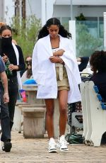LAURA HARRIER on the Set of Her New Movie at Malibu Pier in Los Angeles 10/26/2020