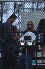 LILI REINHART on the Set of Riverdale in Vancouver 10/08/2020