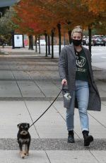 LILI RENHART Out with Her Dog in Vancouver 10/17/2020