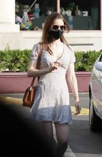 LILY COLLINS Out and About in Los Angeles 10/16/2020