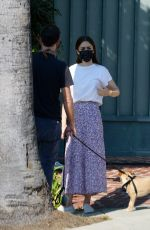 LILY COLLINS Out in Beverly Hills 10/06/2020