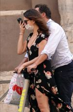 LILY JAMES Out and About in Rome 10/11/2020