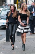 LIZZIE CUNDY and MICHELLE HEATON Sexy Fish Restaurant in London 10/16/2020