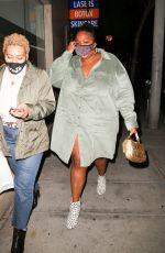LIZZO Out for Dinner in West Hollywood 10/24/2020