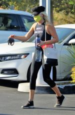 MALIN AKERMAN in Black Leggings and Tank Top Out in Los Angeles 10/06/2020