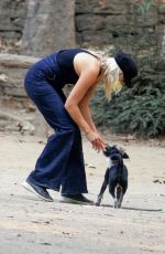 MALIN AKERMAN Out with her Dog at Griffith Park in Los Angeles 10/08/2020