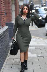 MALIN ANDERSON in Tight Dress Leaves Studio 71 in London 10/15/2020