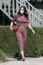 MANDY MOORE Arrives at Acupuncture Center in Los Angeles 09/30/2020