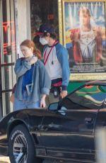 MAYA HAWKE and SADIE SINK on the Set of Stranger Things 4 in Stlanta 10/20/2020