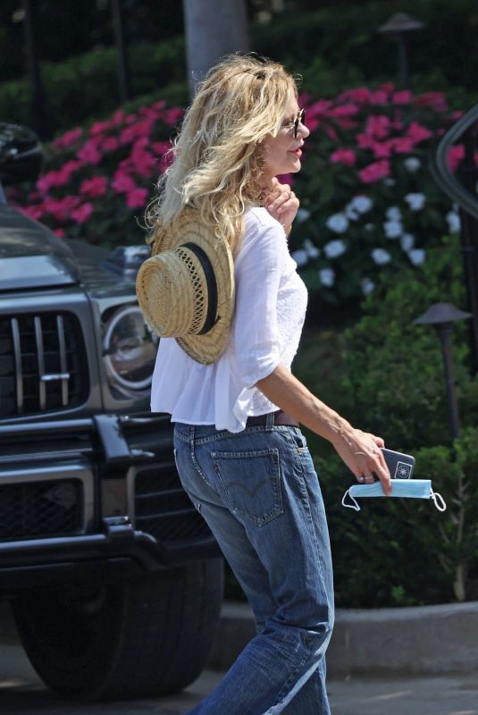 MEG RYAN Out and About in Santa Barbara 10/06/2020
