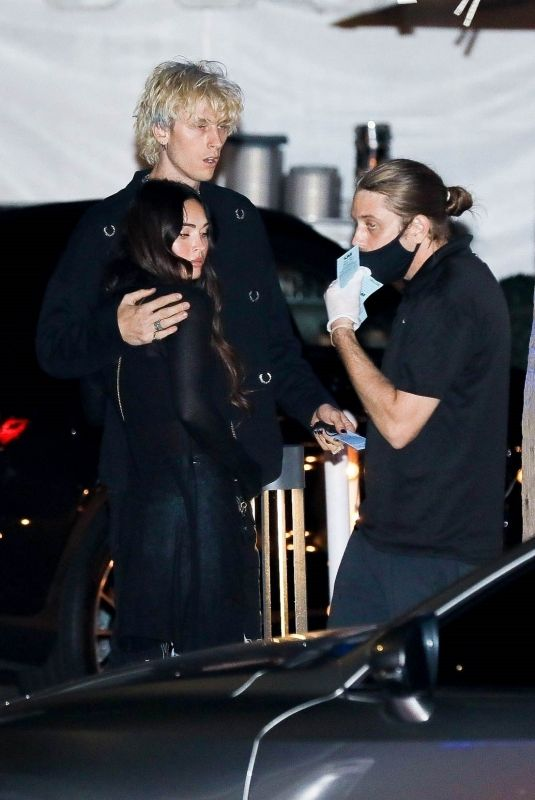 MEGAN FOX and Machine Gun Kelly at Mastro's Steakhouse in Los Angeles 10/11/2020