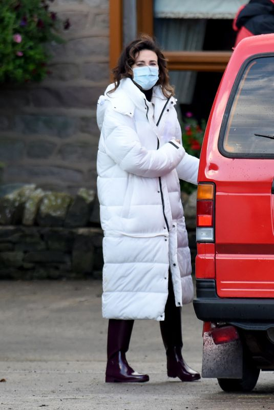 MICHELLE KEEGAN on the Set of Brassic in Lancashire 10/07/2020