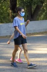 MILA KUNIS Out at a Park in Los Angeles 10/07/2020