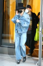 MILEY CYRUS in Double Denim Out and About in New York 10/02/2020