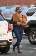 MISCHA BARTON Out Shopping in Los Angeles 10/22/2020